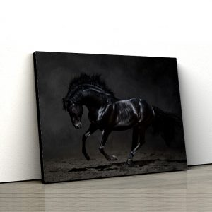 1 tablou canvas Black horse