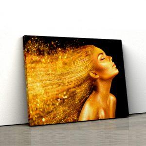 1 tablou canvas Fata aurie