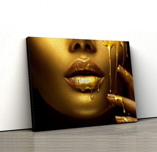 1 tablou canvas Fata gold