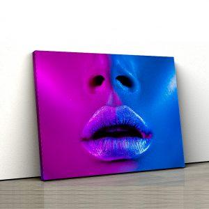 1 tablou canvas Fata roz albastru