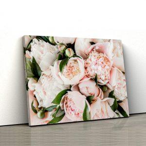 1 tablou canvas Tablou canvas Floral Buchet de bujori roz pal