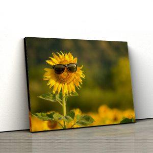 1 tablou canvas Tablou canvas Floral Floarea soarelui fericita