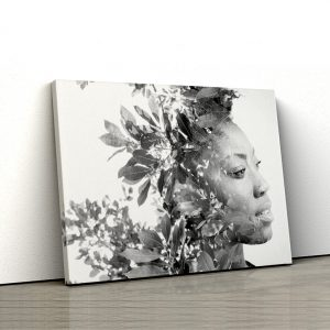 1 tablou canvas dubla expunere frunze