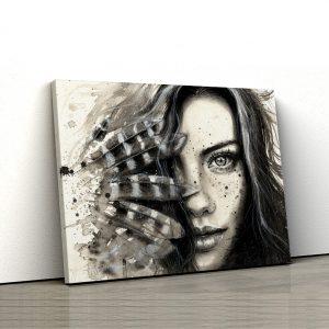 1 tablou canvas femeie alb negru