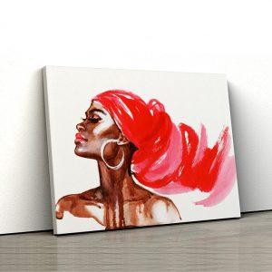 1 tablou canvas portret femeie watercolor