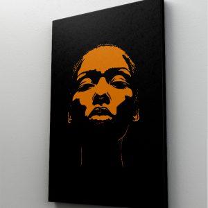 1 tablou canvas portret galben femeie