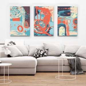 1Multicanvas Abstract Turquoise