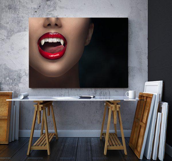 2 tablou canvas Buze de vampir
