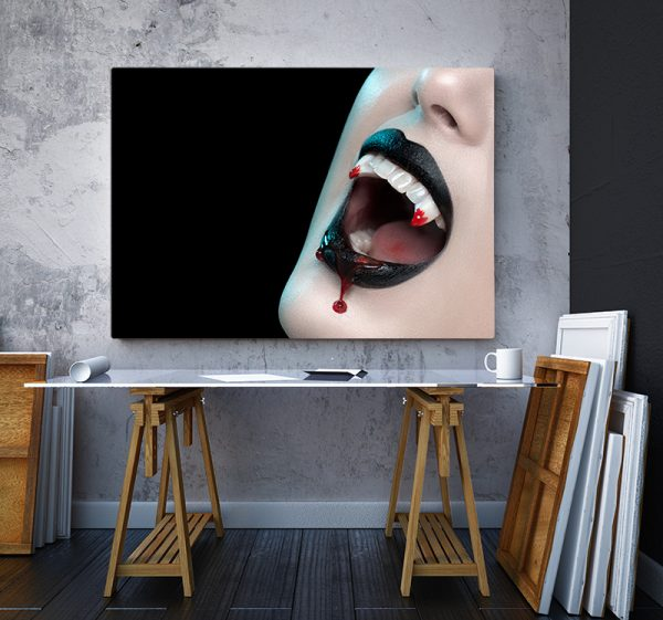 2 tablou canvas Colti de vampir