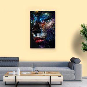 2 tablou canvas Fata din lumni