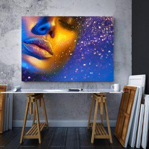 2 tablou canvas Pulbere de aur