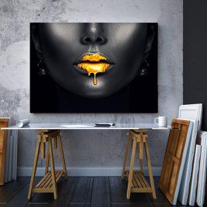 2 tablou canvas Sarut de aur