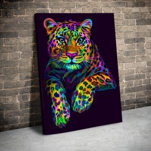 Tablou canvas Animale - Rainbow Leopard