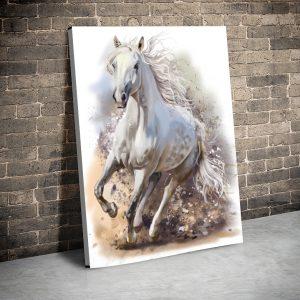 Tablou canvas Animale - White horse