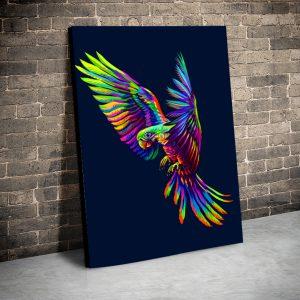 Tablou canvas Animale - Rainbow Parrot
