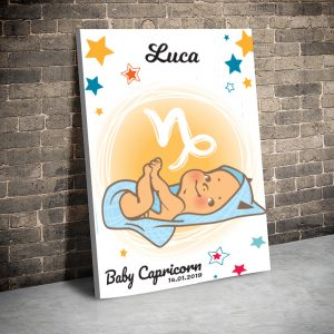 3 tablou canvas Baby Capricorn