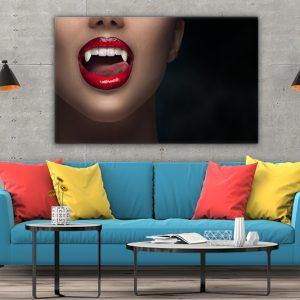 3 tablou canvas Buze de vampir