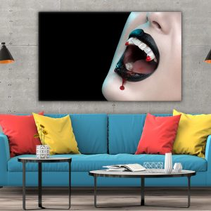 3 tablou canvas Colti de vampir