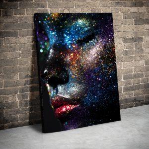 3 tablou canvas Fata din lumni