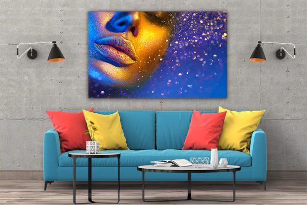 3 tablou canvas Pulbere de aur
