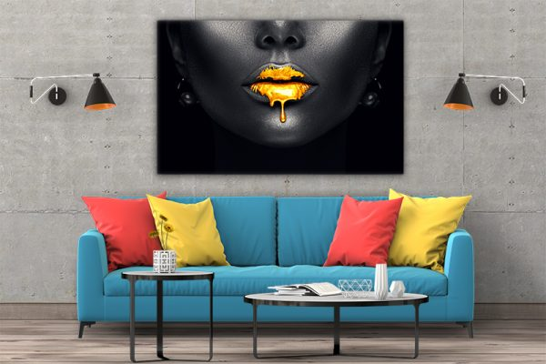 3 tablou canvas Sarut de aur
