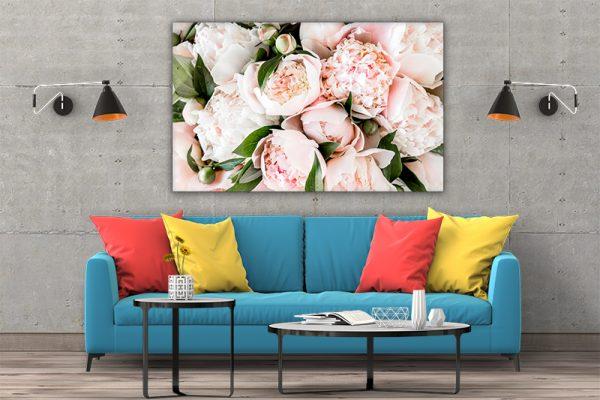 3 tablou canvas Tablou canvas Floral Buchet de bujori roz pal