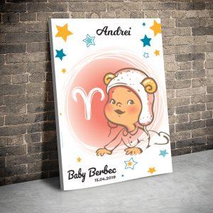 3 tablou canvas Zodii Baby berbec