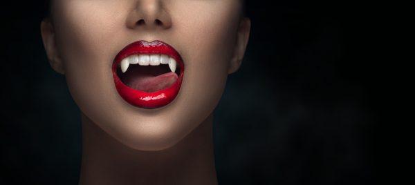Tablou canvas Buze de vampir