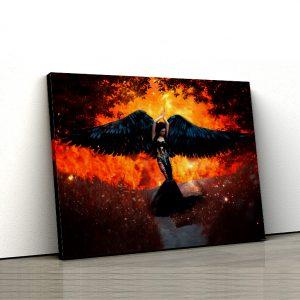 1 tablou canvas Tablou canvas Fantasy Aripi negre