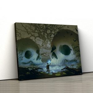1 tablou canvas Tablou canvas Fantasy Cranii in mlastina