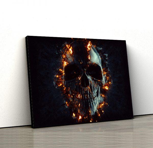 1 tablou canvas Tablou canvas Fantasy Craniu in flacari