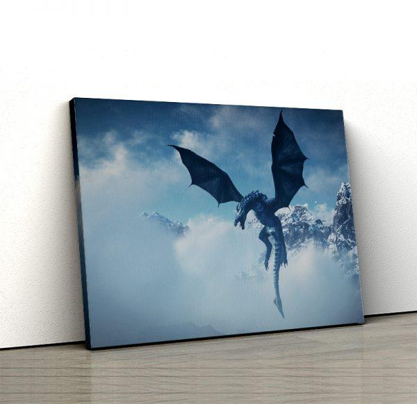 1 tablou canvas Tablou canvas Fantasy Dragon in zlor