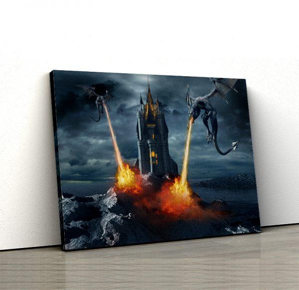 1 tablou canvas Tablou canvas Fantasy Dragoni