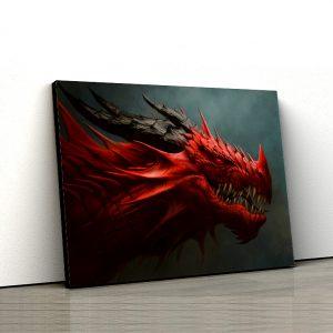 1 tablou canvas Tablou canvas Fantasy Dragonul rosu