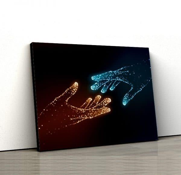 1 tablou canvas Tablou canvas Fantasy Maini luminate