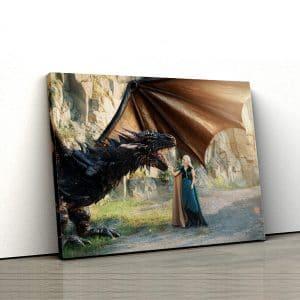 1 tablou canvas Tablou canvas Fantasy Mother of dragons