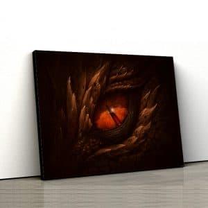 1 tablou canvas Tablou canvas Fantasy Ochi de dragon