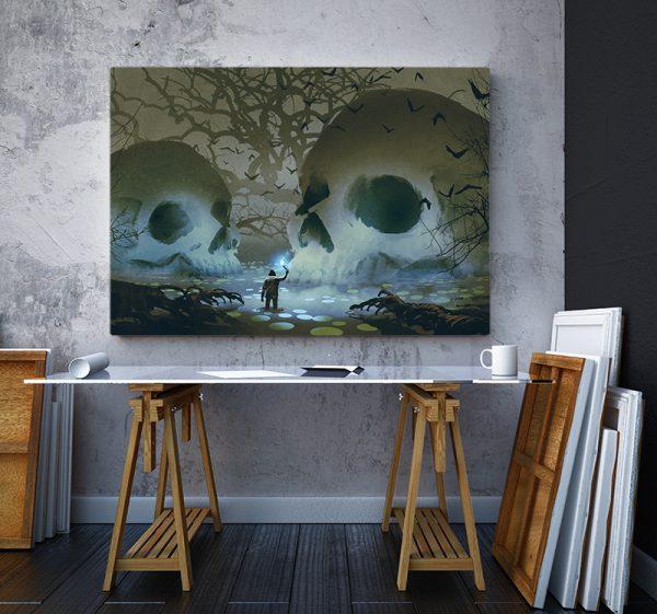 2 tablou canvas Tablou canvas Fantasy Cranii in mlastina