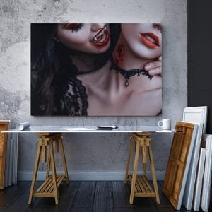 2 tablou canvas Tablou canvas Fantasy Femei vampir