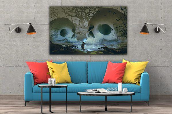 3 tablou canvas Tablou canvas Fantasy Cranii in mlastina