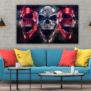 3 tablou canvas Tablou canvas Fantasy Cranii vesele