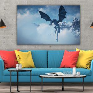 3 tablou canvas Tablou canvas Fantasy Dragon in zlor