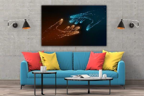 3 tablou canvas Tablou canvas Fantasy Maini luminate