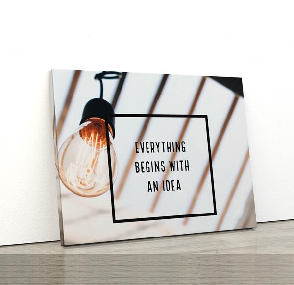 Tablou canvas Motivationale Idea