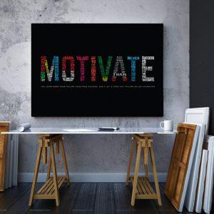 Tablou canvas Motivationale Motivate