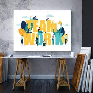 Tablou canvas Motivationale Team work