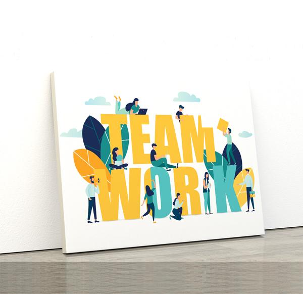 Tablou canvas Motivationale Team work3