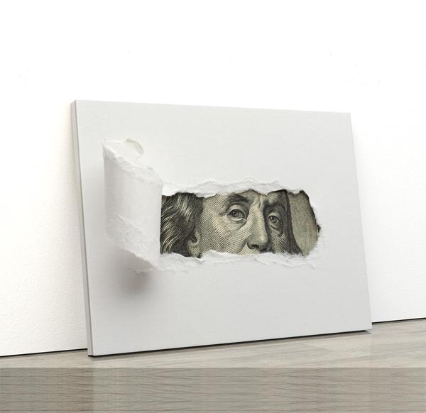 Tablou canvas Motivationale The Dollar