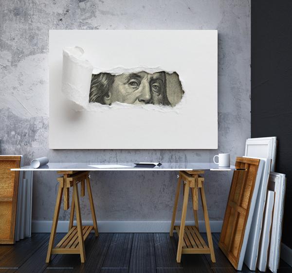 Tablou canvas Motivationale The Dollar2