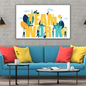 Tablou canvas motivationale Team work2